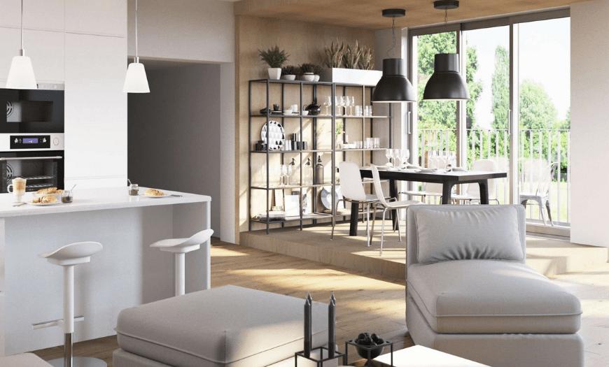 Кухня гостиная Ikea