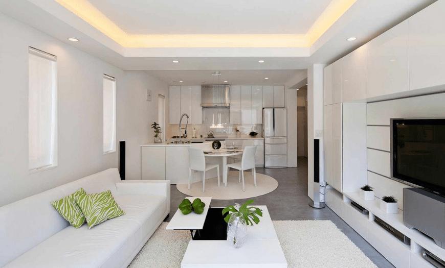 Как объединить кухню с гостиной комнатой
