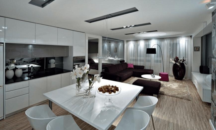Кухня гостиная модерн