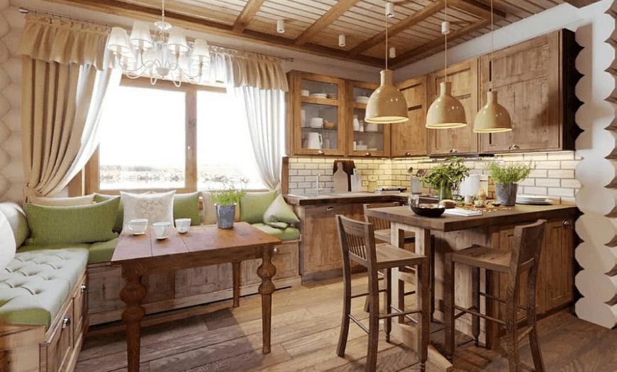 Кухня-гостиная на даче