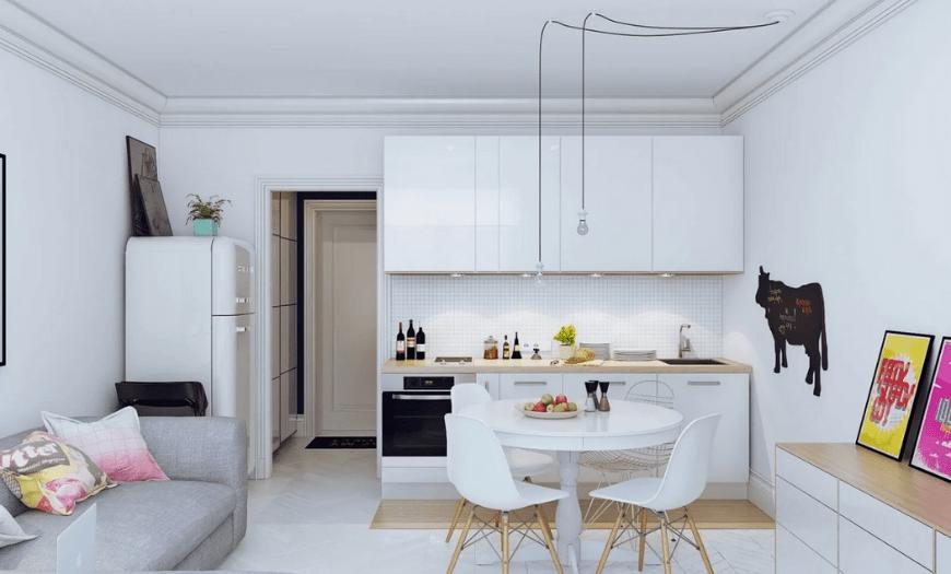 Дизайн кухни гостиной в маленькой квартире