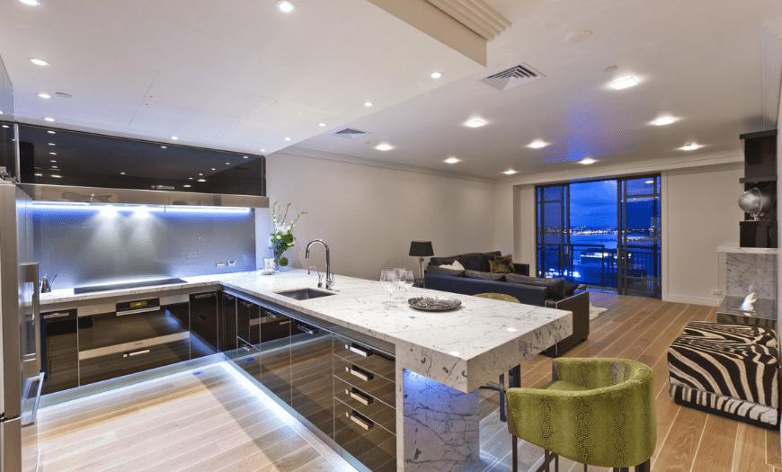 Кухня гостиная в однокомнатной квартире