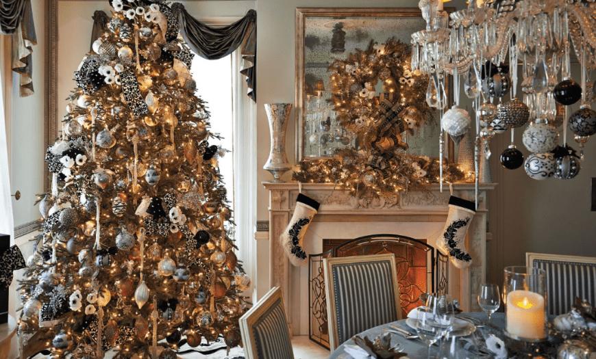 Интерьер новогодней квартиры