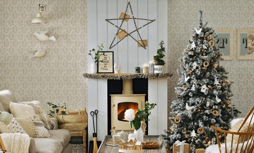 Декор гостиной к новому году
