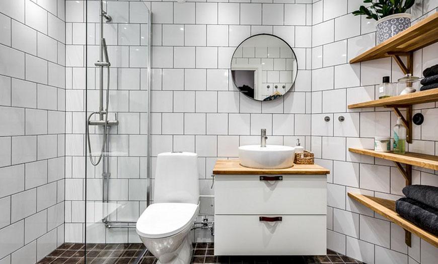 Скандинавский стиль туалета