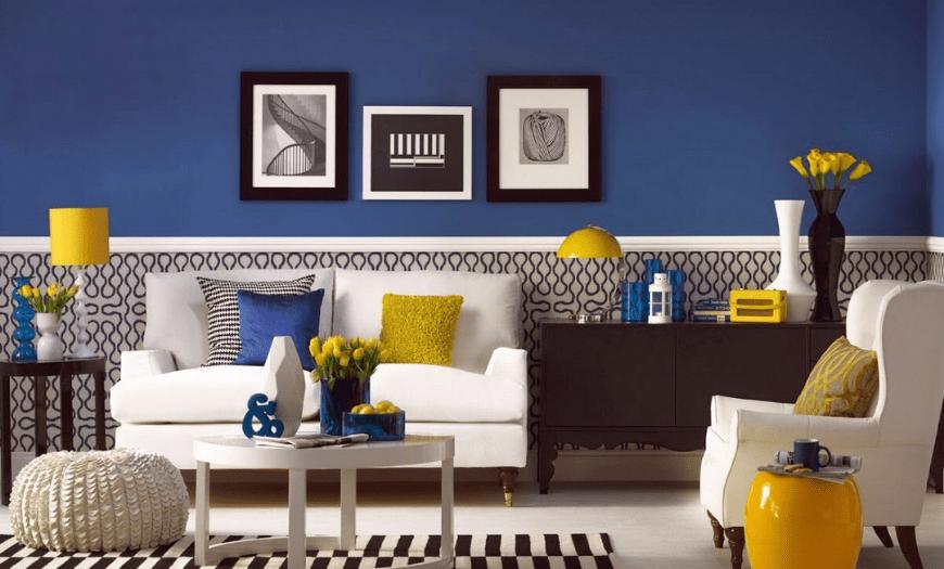 Сочетание синего с желтым