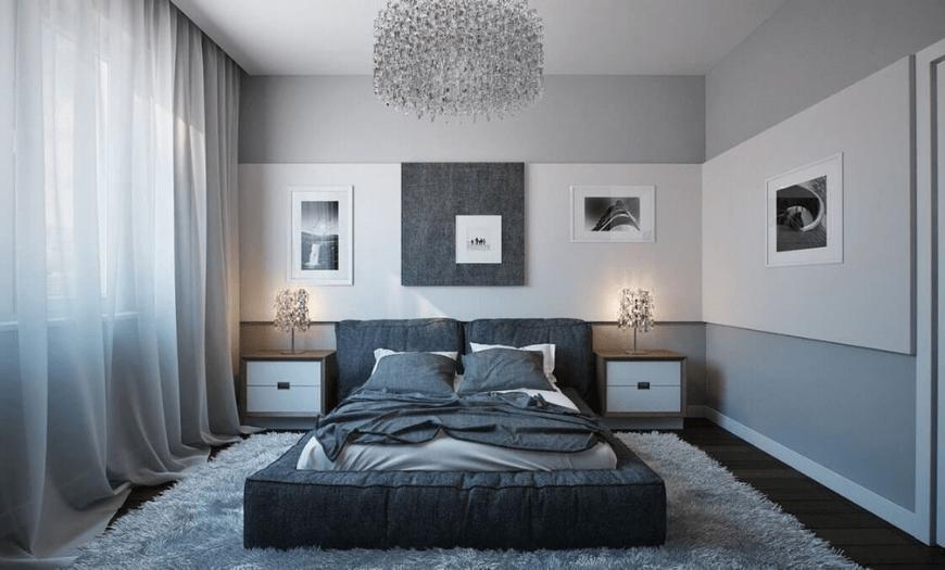 сочетания цветов в интерьере спальни