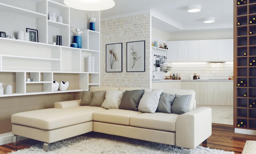 Бежевая мебель в интерьере
