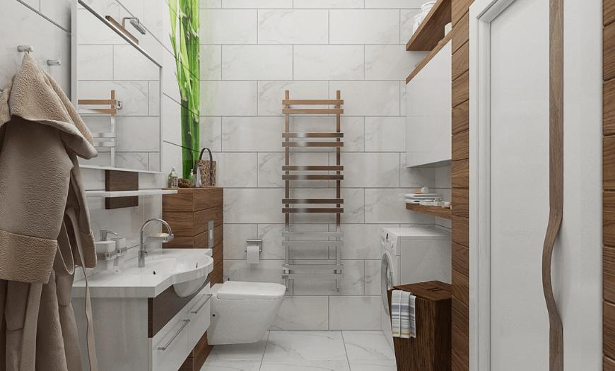 Эко стиль в дизайне туалета