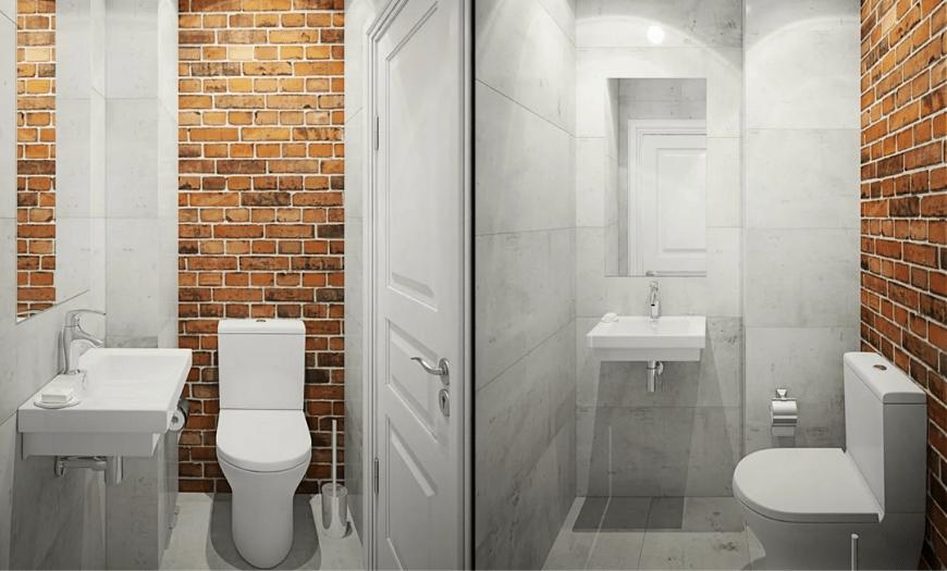 Туалет с стиле лофт