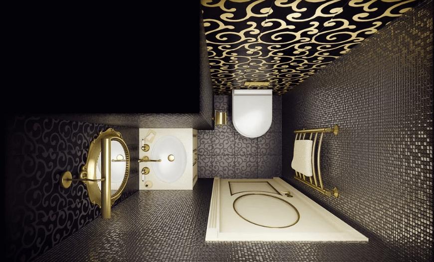 Дизайн туалета арт-деко