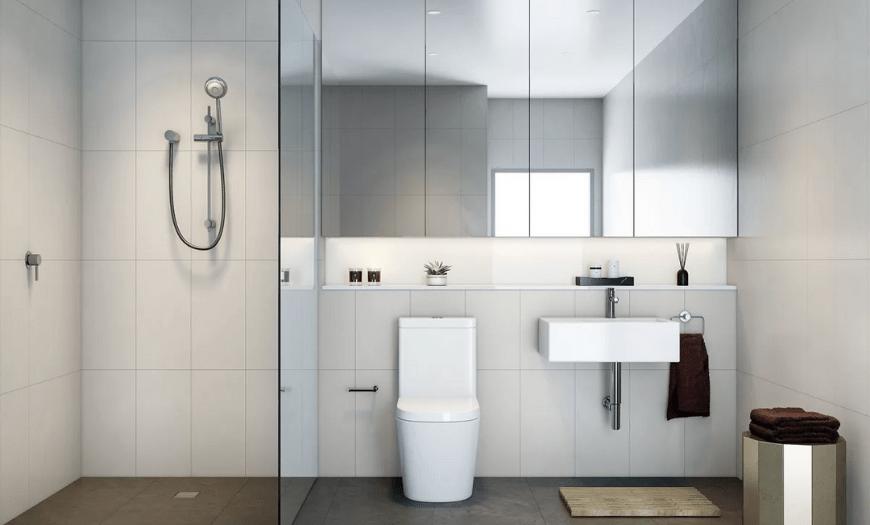 Минимализм в интерьере туалета