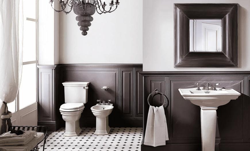 Туалет в стиле неоклассика