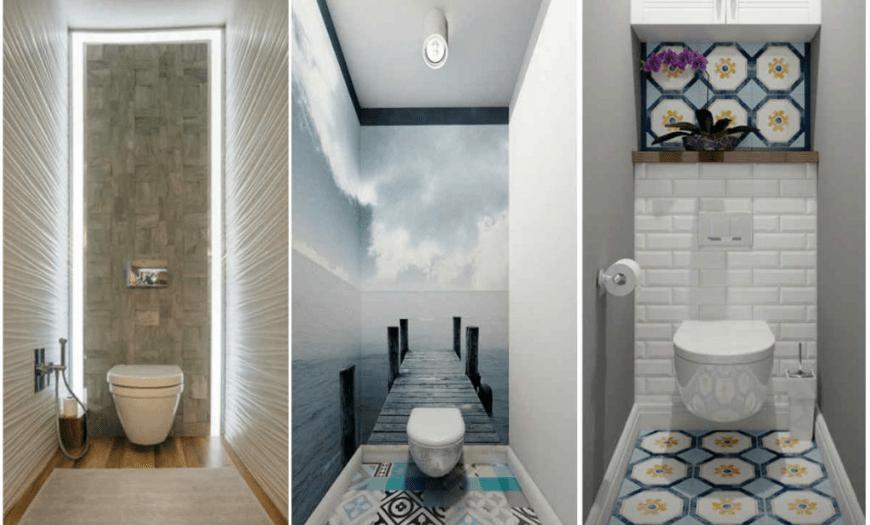 Как визуально расширить узкое пространство в туалете