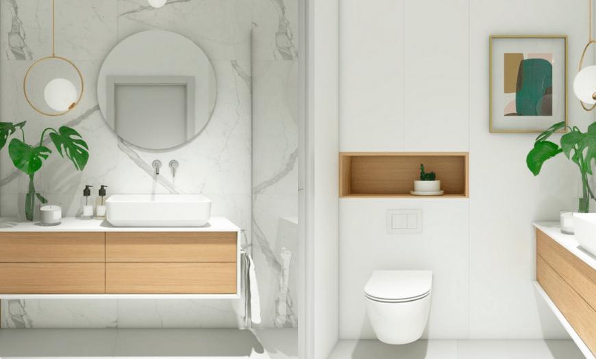 Дизайн туалета в скандинавском стиле