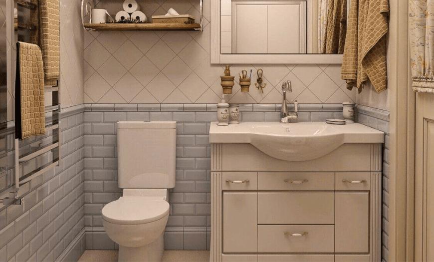 Дизайн туалета в стиле прованс
