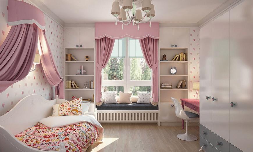 Дизайн комнаты для школьницы