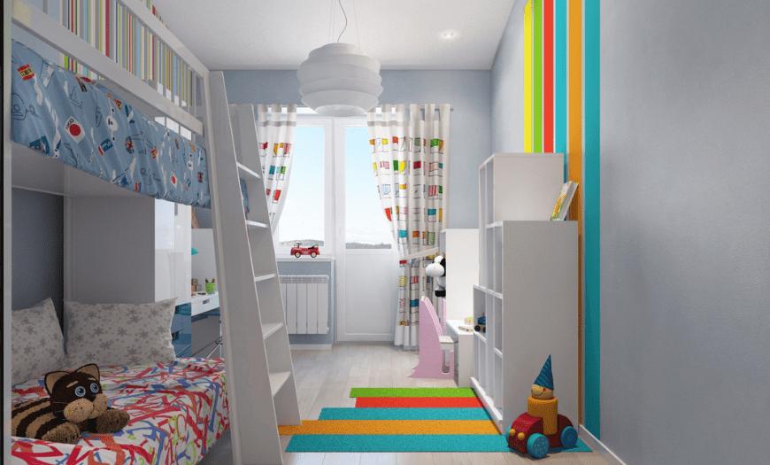Дизайн спальни для разнополых детей