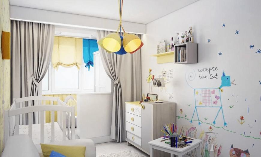 комната для мальчика до 3 лет