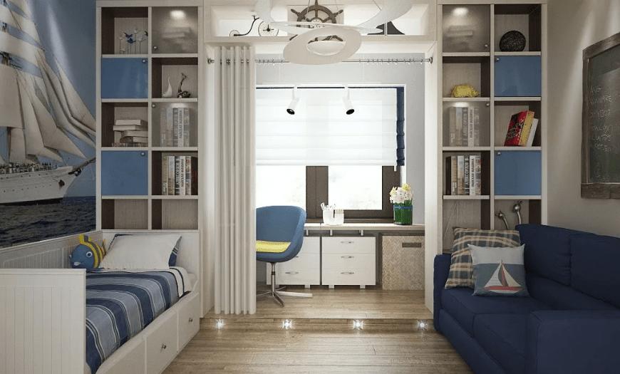 Детская комната дизайн для двоих мальчишек