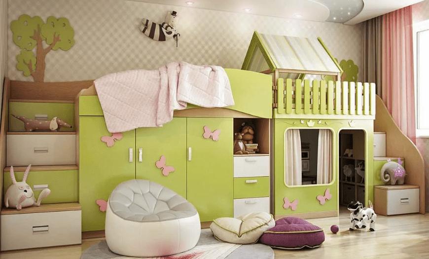 Дизайн детской комнаты девочки 3 года