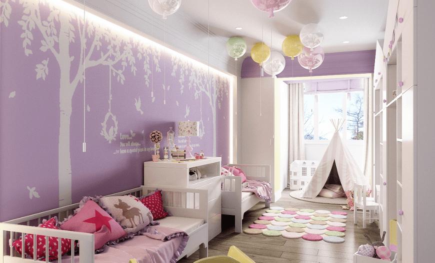 Интерьер для  комнаты девочки 5 лет