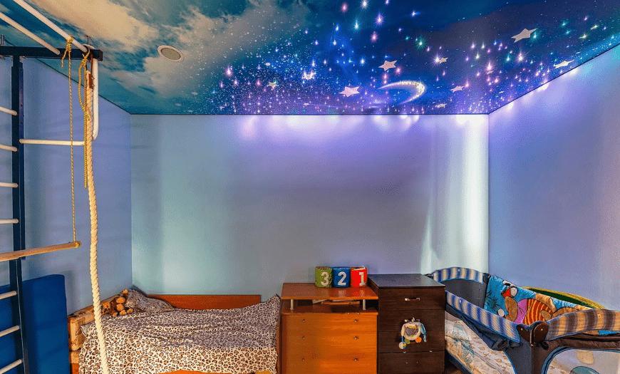 Звездное небо в дизайне детской комнаты
