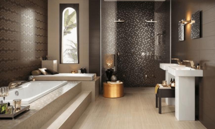 Плитка в ванной комнате (130 фото): дизайн, лучшие идеи отделки