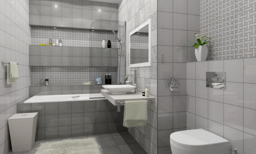 стандартная плитка для ванной
