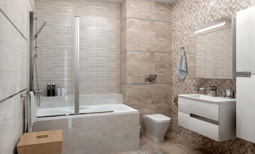 Современный дизайн плитки для ванной