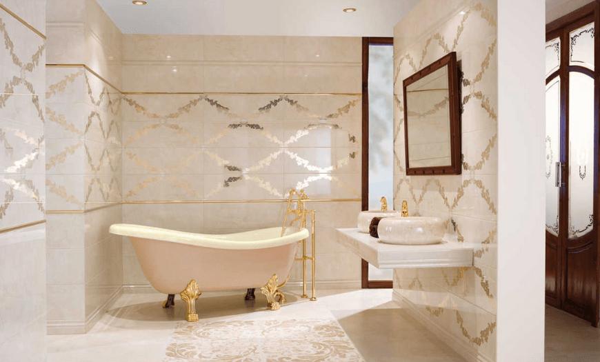 Светлая плитка для ванной