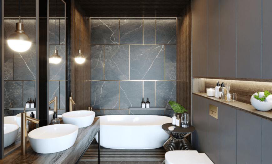 модная плитка для ванной комнат